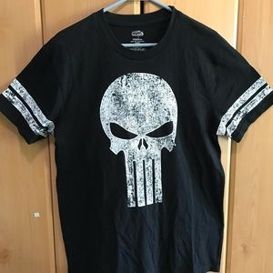 Marvel The Punisher Skull Logo Black T-Shi…